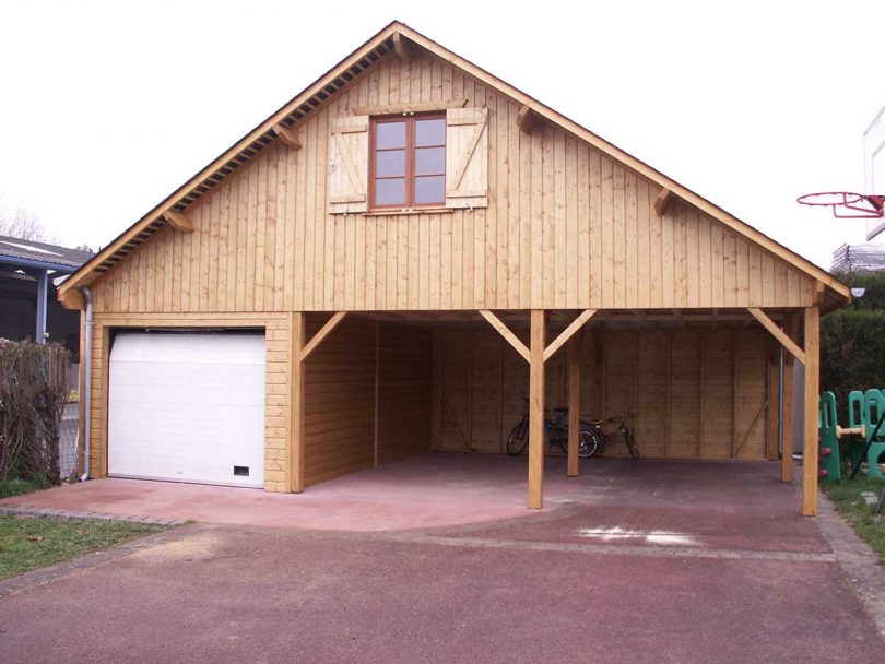 Travaux on tente le garage en bois travaux for Garage en bois en solde